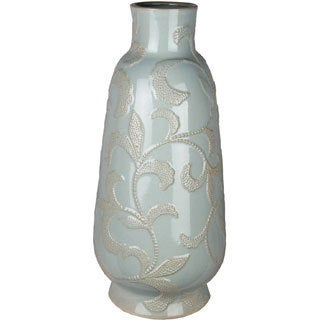 Small Aqua Antique Ceramic Vase