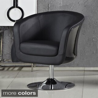 Aero Fiberglass and Leatherette Accent Chair