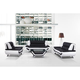 Bonded Leather Sofa, Loveseat and Chair Set