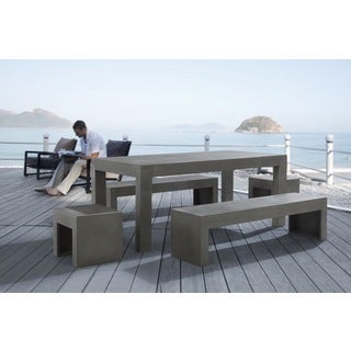 Beliani Taranto Modern Concrete Outdoor Dining Set