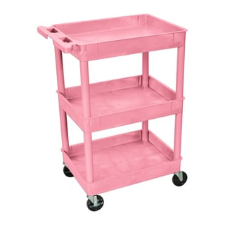 Luxor Tub Cart 3 Shelves Pink