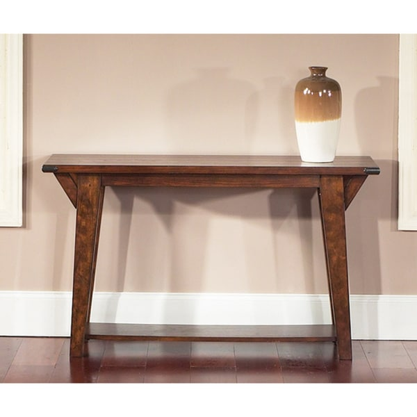 Liberty Cabin Fever Bistro Brown Sofa Table