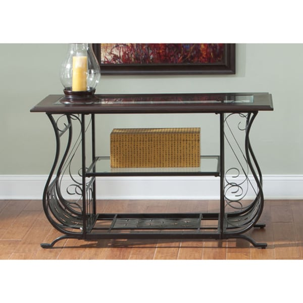 Liberty Almont Transitional Mahogany Sofa Table