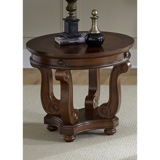 Liberty Victorian Dark Classic Cherry Round End Table