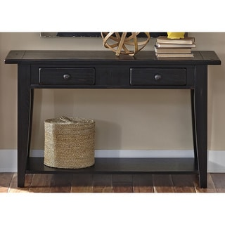 Liberty Rustic Black Traditional Sofa Table