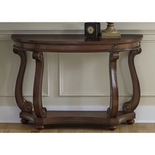 Liberty Victorian Dark Classic Cherry Oval Sofa Table