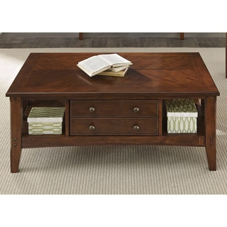 Liberty Warm Cherry Transitional Cocktail Table