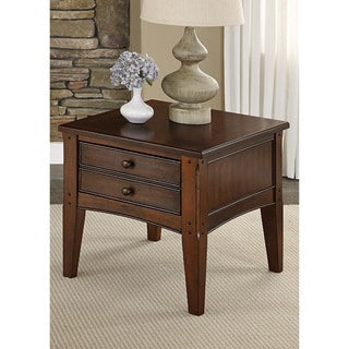 Liberty Warm Cherry Transitional End Table