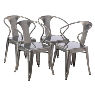 Gunmetal Tabouret Stacking Chair (Set of 4)