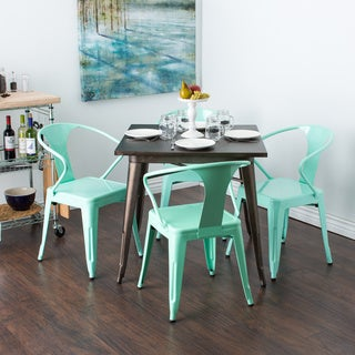 Hint of Mint Tabouret Stacking Chair (Set of 4)