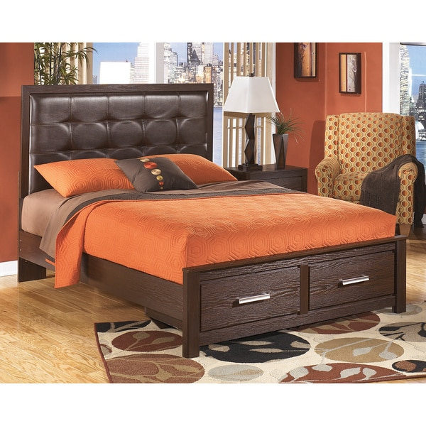 Signature Design By Ashley Aleydis Oak Storage Platform Bed 16597964 Shopping