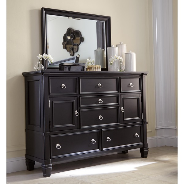 Signature Design By Ashley Greensburg Painted Black Dresser And Mirror