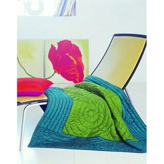 Bassetti Elie Cotton/ Satin Throw Blanket