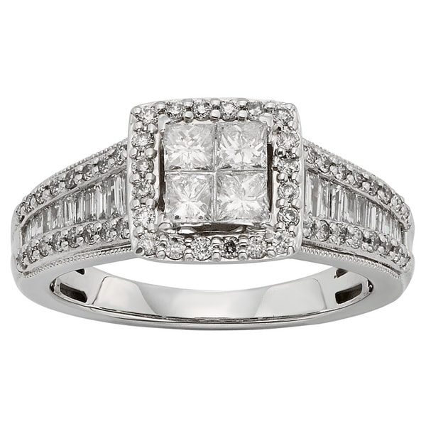 Sofia 10k White Gold 1ct TDW Diamond Engagement Ring (H-I, I1-I2)