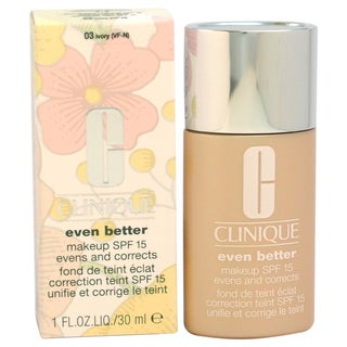 Even Better Makeup SPF15#03 Ivory(VF-N)-Dry Combination To Combination Oily Skin by Clinique for Wom