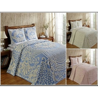 Florence Soft Cotton Chenille Bedspread or Sham by Better Trends