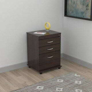Inval 3-drawer Espresso File Cabinet