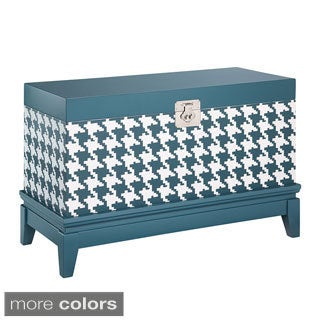 Madison Park Houndstooth Trunk Storage Chest