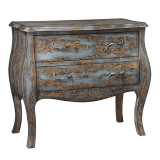 Madison Park Distressed 2-Drawer Bombe Chest