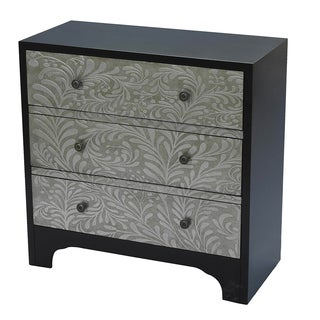 Madison Park Stamped Scroll 3 Drawer Accent Chest
