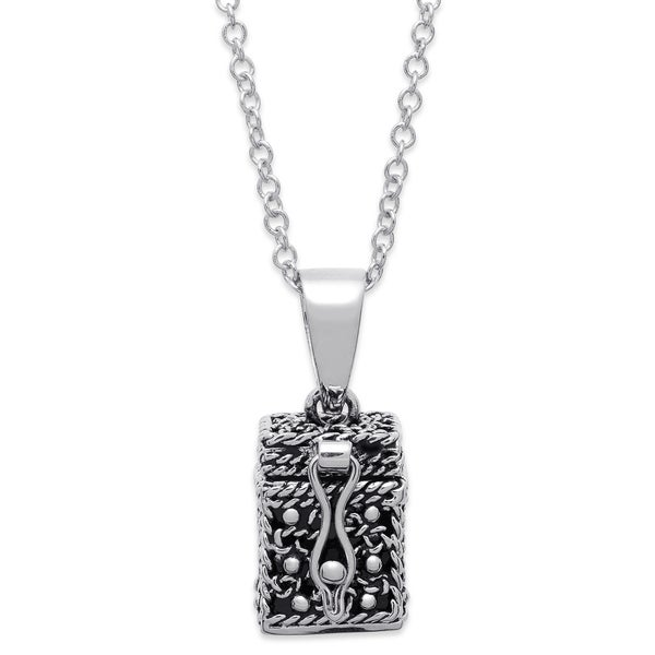 Prayer Keeper Antiqued Box Pendant with Personalization