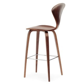 Mid-century Style Molded Wood Bar Stool