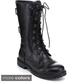 Little Angel Girls 'Jill-716' Mid-calf Combat Boots