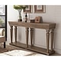 Powell Benjamin Distressed Pin Console Table