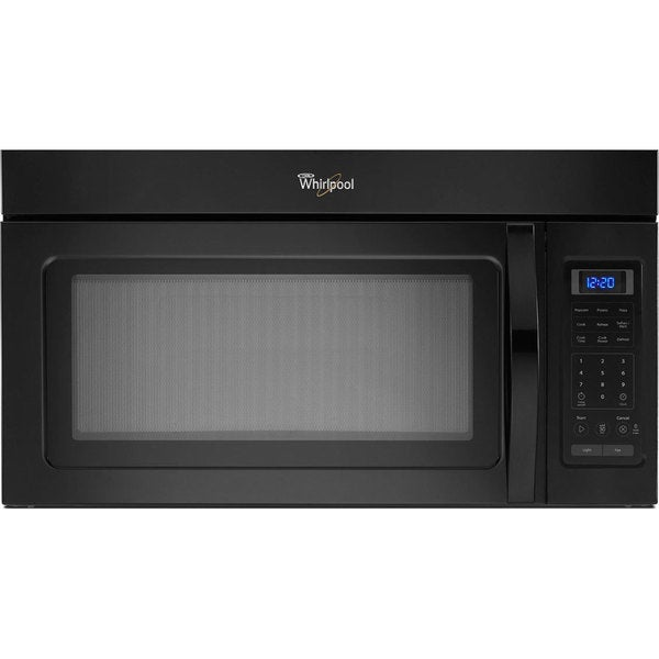 Whirlpool 1.7-cubic-foot Over-the-Range Black Microwave