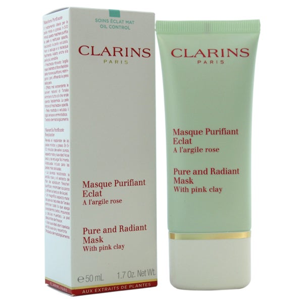 Clarins Pink Clay Pure and Radiant Mask 1.7-ounce Cleanser