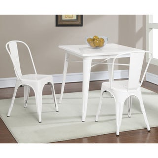 Tabouret White Metal Dining Table