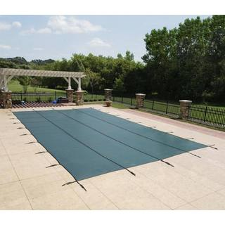 Dirt Defender Green Rectangular In-ground Pool Safety Cover