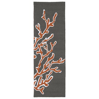 Luau Brown Coral Indoor/ Outdoor Rug (2' x 6')