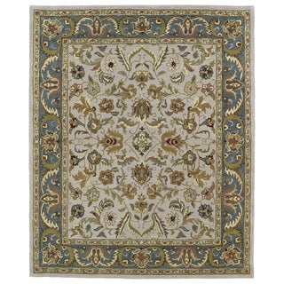 Hand-tufted Anabelle Taupe Kashan Wool Rug (5' x 7'9)