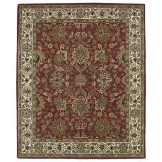 Hand-tufted Anabelle Red Agra Wool Rug (5' x 7'9)