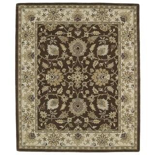 Hand-tufted Anabelle Chocolate Kashan Wool Rug (5' x 7'9)