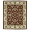Hand-tufted Anabelle Rust Kashan Wool Rug (7'6 x 9')