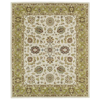 Hand-tufted Anabelle Beige Wool Rug (8' x 11')