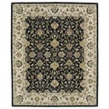 Hand-tufted Anabelle Black Wool Rug (7'6 x 9')