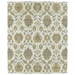 Hand-tufted Anabelle Beige Allover Wool Rug (8' x 11')