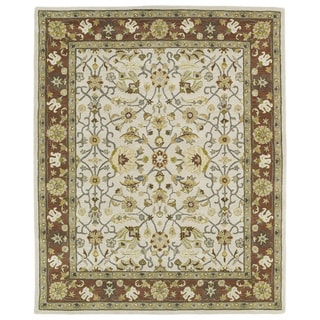 Hand-tufted Anabelle Ivory Wool Rug (8' x 11')