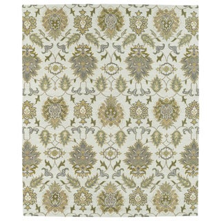 Hand-tufted Anabelle Beige Allover Wool Rug (5' x 7'9)