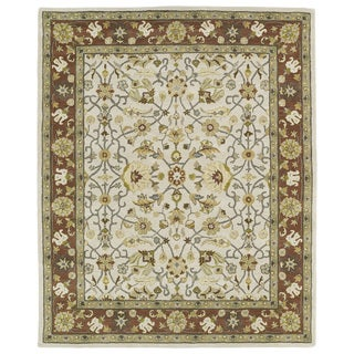 Hand-tufted Anabelle Ivory Wool Rug (7'6 x 9')
