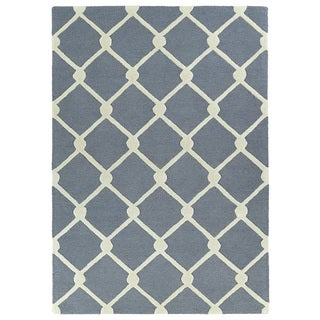 Hand-tufted Grey Prints Trellis Rug (5' x 7')