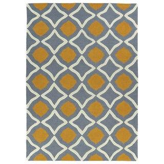 Hand-tufted Grey Geo Rug (2' x 3')