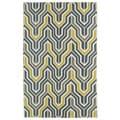 Hollywood Grey/ Yellow Flatweave Rug (2' x 3')