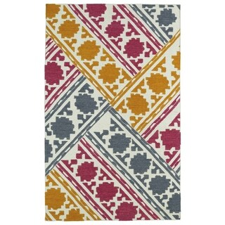 Hollywood Flatweave Multi Patchwork Rug (9' x 12')