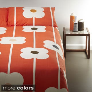 Orla Kiely Large Flower 3-piece Duvet Cover Set with Additional Shams Available