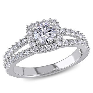 Miadora Signature 14k White Gold 1ct TDW Diamond Engagement Ring (G-H, I1-I2)