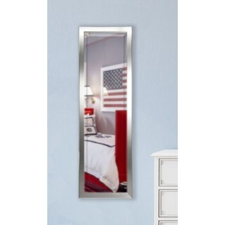 American Made Rayne Minimal Silver 19.5 x 58.5 Slender Body Mirror